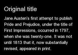 facts you probably didn t know about pride and prejudice  12 things you didn t know about pride prejudice 1 13 original title