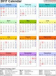 Annual Calendar 2017 Printable | Budget Template Free