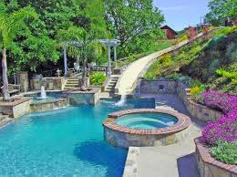 beautiful pools with slides. Perfect Beautiful Pool Slide Design For Beautiful Pools With Slides Home Design Lover