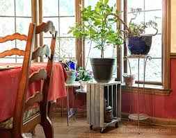 rolling plant stand diy tiered wooden crate