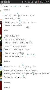 Revelation Song Chord Chart
