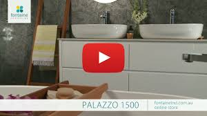 palazzo bathroom vanity large double basin stone top 1500 fontaineind com au