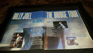 Four of the album's tracks landed in the top 40, the album itself reached no. Billy Joel The Bridge Tour Rare Original Promo Poster A
