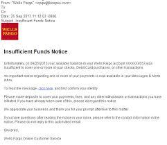 Phishingpier Insufficient Funds Notice Fake Site Phishing Scam