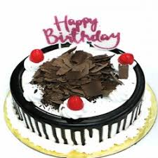 Black Forest Cake With Happy Birthday Candle Lowest Price Same Day