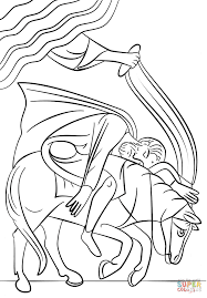 Small Picture Pauls Conversion on the Road to Damascus coloring page Free