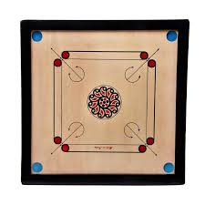 dvm 32 inches wooden carrom board