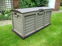 outdoor storage containers rubbermaid box weather proof waterproof bins pool large