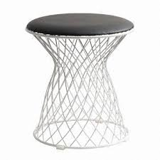 wire furniture. china modern wire stool with pu cushion galvanized frame suitable for dinning room furniture