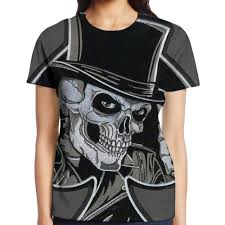Skeleton Design T Shirt Amazon Com Beautyswimming Skull Cards Womens Original
