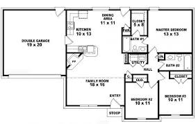 3 Bedroom 2 Bath House Plans Custom Inspiration Ideas