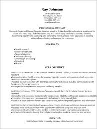 Example Of Social Work Resumes Social And Human Services Assistant Resume Template Best