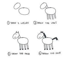2014年の干支馬の描き方 簡単可愛い馬リアルな馬の手描き方法 話題