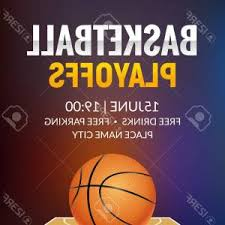 Photostock Vector Basketball Vector Poster Game Tournament Realistic ...