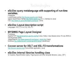 Escidoc Report Definition Interfaces Ppt Download