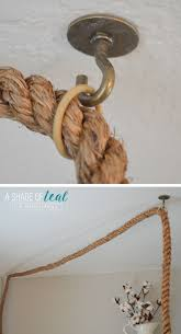 i then hung the rope cord by the rings to make sure the cord was the right height over my desk