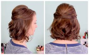 Curly Half Updos For Short Hair