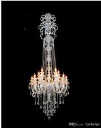 big crystal chandelier hanging lights led lamps 15 glass arms h2 1m large long chandeliers candleholder luxury villa hotel big hanging light large luxury