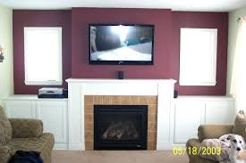 mounting tv above gas fireplace baby nursery excellent how should i run wiring for my above