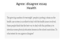model essays agree disagree essay health