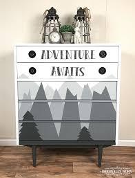 Mountain Adventure theme kids or nursery dresser. Painted in Chalk ...