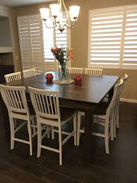 the james james 66 x 66 x 36 square farmhouse dining table in kona stain brings farmhouse style to this beautiful home custom built furniture solid