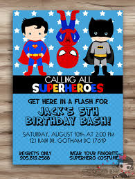Personalized Superhero Birthday Invitations Superhero Party Invitations Under Fontanacountryinn Com