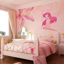 princess murals bedroom beautiful fairy princess decals art mural wall sticker kids girl room decor pink