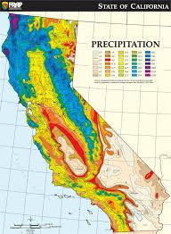 California Annual Rainfall Chart California Average Annual Precipitation Climate Map With