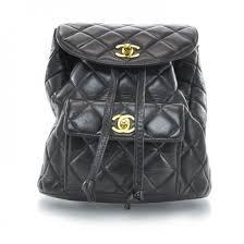 CHANEL Vintage Lambskin Quilted Backpack Black 29581 & CHANEL Vintage Lambskin Quilted Backpack Black Adamdwight.com
