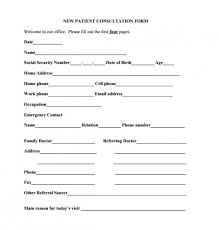 Medical Forms Templates Download Free Medical Consultation Form Template Medical Form