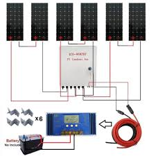 Solar Panel Circuit Design 1kw 24 Volt Off Grid Solar Panel Rv Boat Kit With 60a Pwm