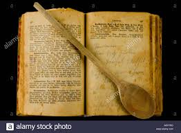 old cookery book stock image