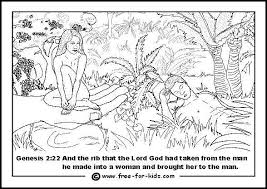 Small Picture Adam and Eve Colouring Pages