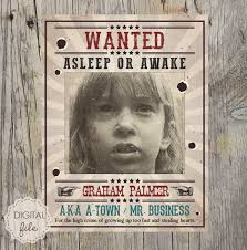 Criminal Wanted Poster Fascinating Wanted Poster Wild West Theme Personalized Printable Etsy