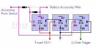 on until door opened retained accessory power negative door relay diagrams radio on until door opened retained accessory power negative door trigger