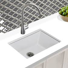 Shop Highpoint Collection 24 Inch Undermount Fireclay Kitchen Sink