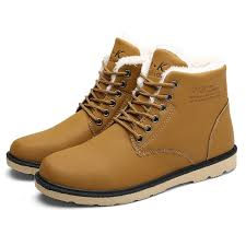 men comfortable warm fur lining leather laces up boots shoes at banggood sold out