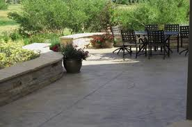 stamped concrete concrete patio recently added j s landscape longmont co