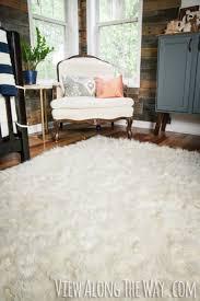 you can make this diy faux fur rug genius
