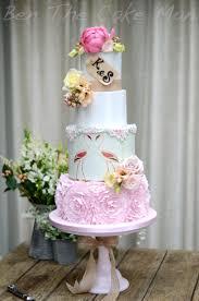 Rustic flamingo frills Ben the cake man