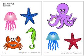colored fish printables. Beautiful Fish Download The Colored Sea Invertebrates Template To Fish Printables N