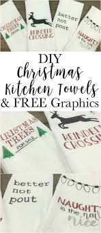 Download 15,839 christmas greetings free vectors. Diy Fun Christmas Towels With Free Silhouette Christmas Graphic Files Super Easy Cheap In 2020 Christmas Kitchen Towels Christmas Towels Diy Christmas Kitchen Towels