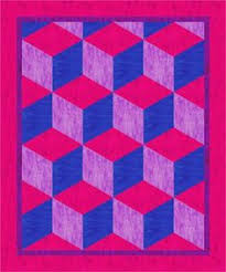 Baby Block Quilt Patterns Best 48 Best Tumbling Blocks Quilts Images On Pinterest Tumbling Blocks