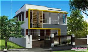 duplex house elevation 1000 sq feet each home kerala plans