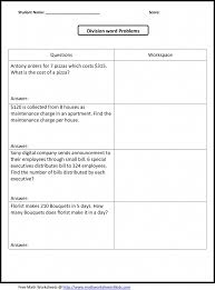 Grade Grade 4 Math Word Problems Worksheets Image - All About ...
