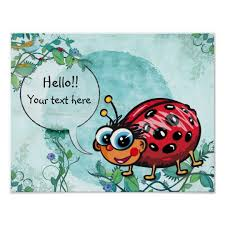 playful cute and charming lady bug wall