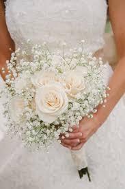 Baby S Breath White Wedding Bouquet Classic White Photographers