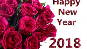 happy new year 2018 roses wallpaper