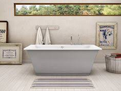 maax optik freestanding bathtub with sterling silver a